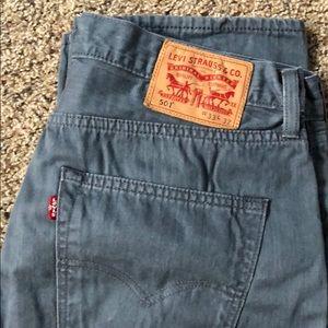 Levi's 501 slate gray jeans 33x32